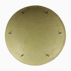 Deutsche Mid-Century UFO Deckenlampe aus Messing & Fiberglas, 1950er