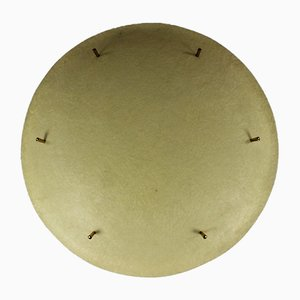 Mid-Century German Brass and Fiberglass UFO Ceiling Lamp, 1950s