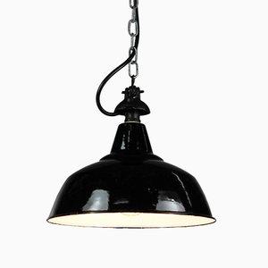 Vintage Industrial Enamel & Steel Ceiling Lamp