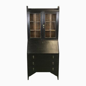 Vintage Black Oak Secretaire, 1930s