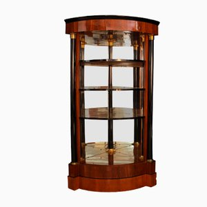 Biedermeier Austrian Mahogany Veneer Corner Etagere, 1820s