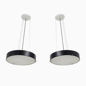 Lampes à Suspension Modèle 1090 par Bruno Gatta pour Stilnovo, 1954, Set de 2