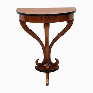 Table Console Biedermeier Demilune, 1830s
