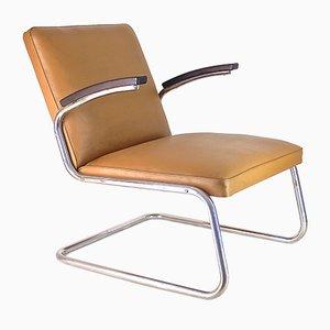 Butaca Cantilever Bauhaus de acero cromado cromado, años 30