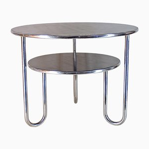Bauhaus German Tubular Steel & Bakelite Side Table, 1920s
