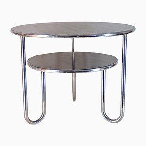 Tavolino Bauhaus in acciaio tubolare e bachelite, Germania, anni '20