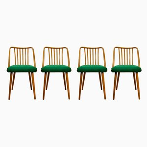 Green Dining Chairs by Antonín Šuman for TON, 1960s, Set of 4