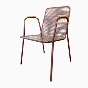 Industrieller italienischer Stuhl aus Eisen, 1970er