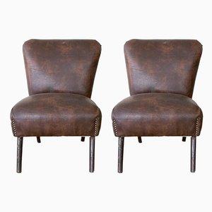Vintage Italian Skai Side Chairs, Set of 2