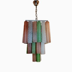 Italian Murano Glass Chandelier by Paolo Venini for Murano, 1970s