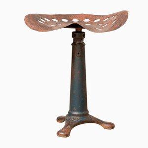 Taburete industrial de hierro fundido de Singer, años 30