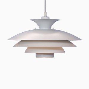 Lampada da soffitto vintage in metallo bianco, Danimarca, anni '80