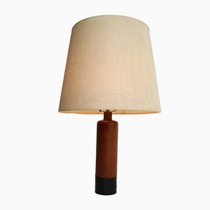 Vintage Danish Brass and Leather Table Lamp from ESA, 1960s