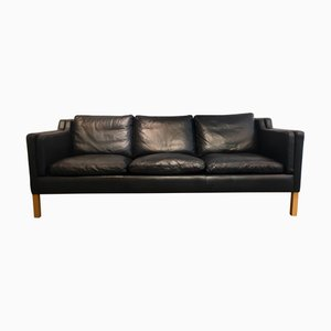 Scandinavian Modern Leather Sofa from Stouby, 1960s
