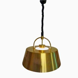 Danish Hercules Brass Pendant Lamp by Johannes Hammerborg for Fog & Mørup, 1970s