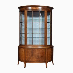 Antique Mahogany Bow-Fronted Display Cabinet