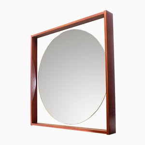Vintage Mahogany Mirror, 1970s