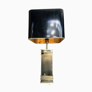 Art Deco Italian Brass and Chrome-Plated Table Lamps, 1960s, Set of 2