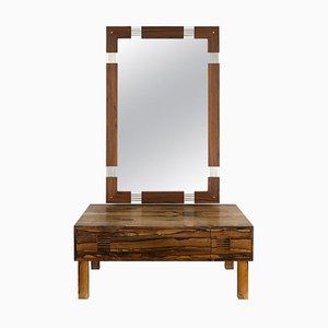 Rosewood Dressing Table with Mirror from AB Glas & Trä, 1960s