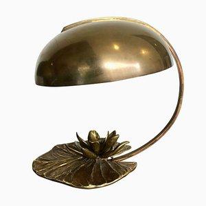 Nenuphar Tischlampe aus Bronze & Metall von Maison Charles, 1960er