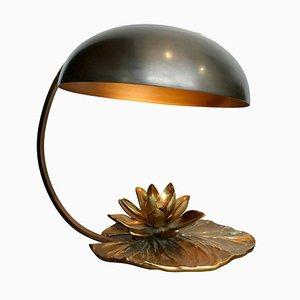 Nenuphar Tischlampe in Wasserlilien-Optik von Maison Charles, 1960er