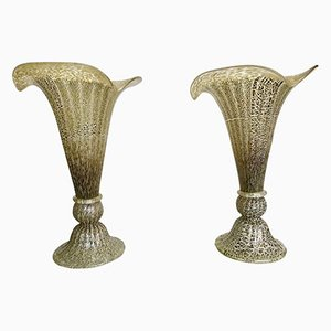 Italienische Mid-Century Tischlampen aus Muranoglas, 1960er, 2er Set