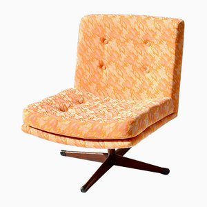 Orange Swivel Chair from AB Slätte Möbler, 1960s