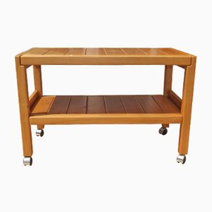 Vintage French Elm Trolley from Maison Regain, 1970s