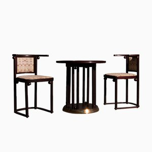 Art Nouveau Style Dining Room Set by Josef Hoffmann for Wittmann, 1980s