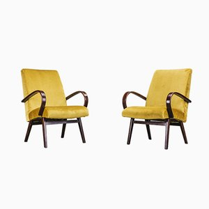 Beech Lounge Chairs by Jaroslav Smidek for TON, 1960s, Set of 2
