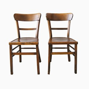 Wooden Dining Chairs from Luterma, 1950s, Set of 2