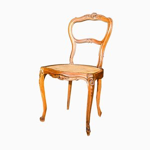 Antique Napoleon III Style French Walnut Dining Chairs, 1880s, Set of 6