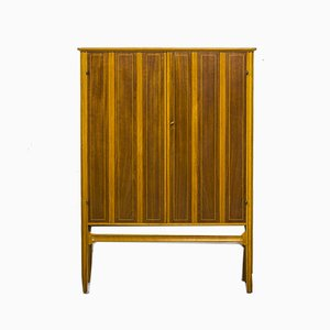 Mid-Century Beech and Brass Cabinet, 1940s