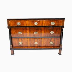 Antique Empire Brass and Wood Dresser