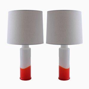 Lampade da tavolo moderne di Uno & Östen Kristiansson per Luxus, Scandinavia, 1968, set di 2