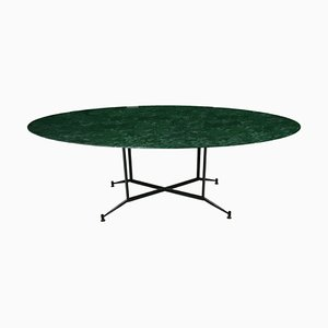 Mid-Century Italian Green Marble Dining Table, 1950s