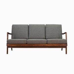 Dänisches Vintage Sofa aus Nussholz, 1970er