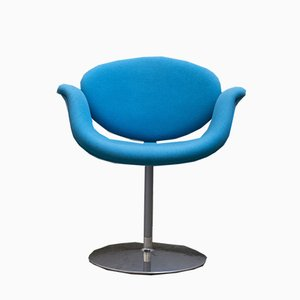 Azure Little Tulip Lounge Chair by Pierre Paulin for Artifort, 1970s