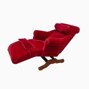 Vintage Oak Le Surrepos Chaise Lounge from Docteur Pascaud, 1920s