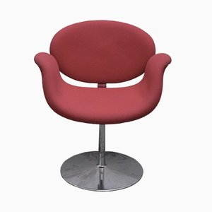 Red Little Tulip Lounge Chair by Pierre Paulin for Artifort, 1970s