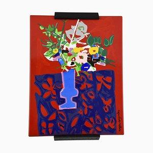 Tableau en Fer Émaillé par Roger Bezombes pour J. Neuhaus, 1970