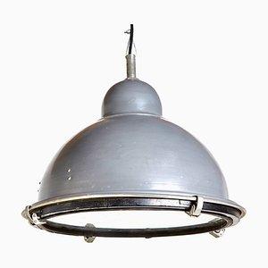Lámpara colgante industrial vintage semiesférica, años 70