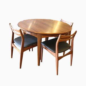 Vintage Danish Dining Set Teak and Rosewood, 1960s