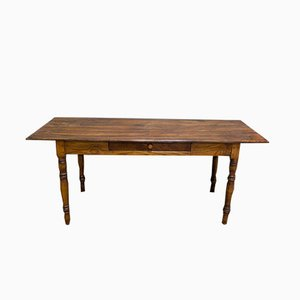 Antique Rustic Oak Dining Table