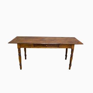 Mesa de comedor rústica antigua de roble