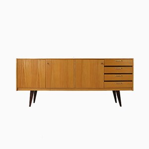 Mid-Century German Brass and Ash Sideboard, 1950s