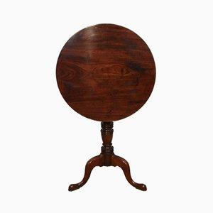 Tavolino georgiano pieghevole in mogano, Regno Unito, inizio XIX secolo
