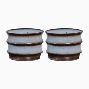 Jarrones de cerámica de Bruno Karlson para Ego, años 60. Juego de 2