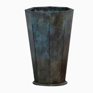 Jarrón vintage de bronce de GAB Bronz, años 30