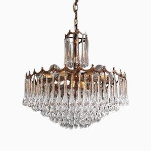 Kronleuchter aus Muranoglas & Kristallglas, 1950er